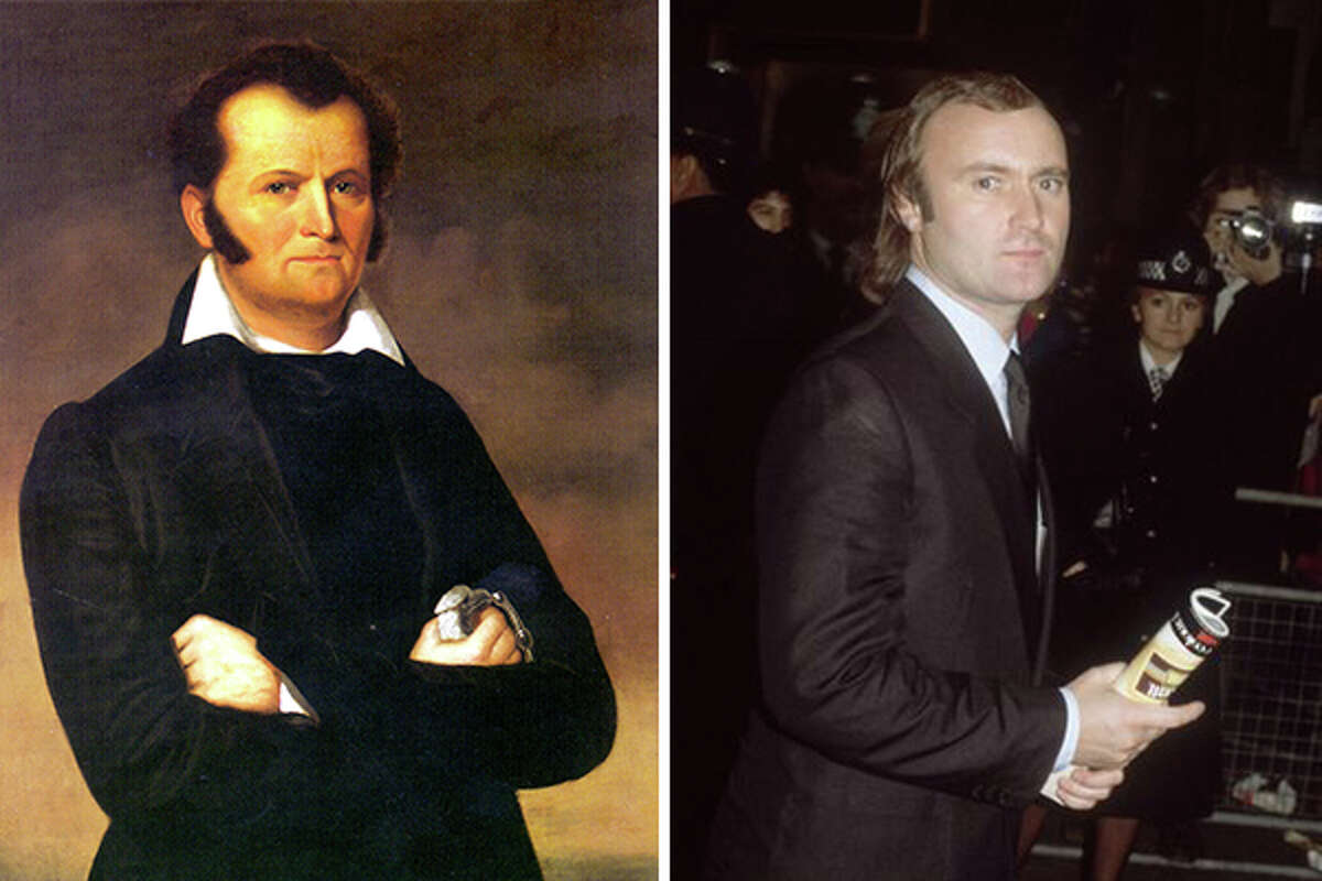 Jim Bowie on the left and Phil Collins on the right. The resemblance is uncanny.