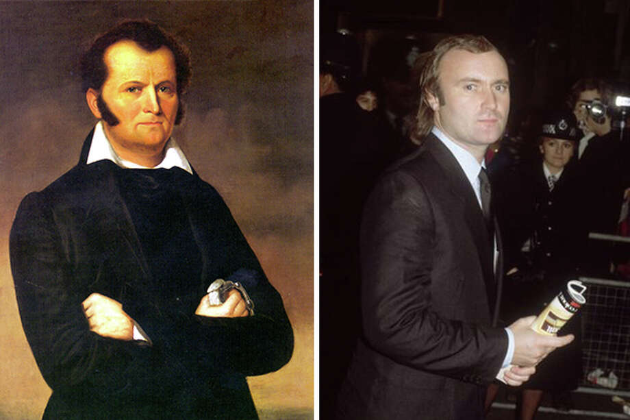 Jim Bowie on the left and Phil Collins on the right. The resemblance is uncanny. Photo: SAEN