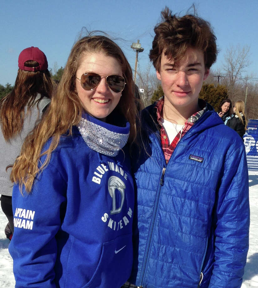 Katharine Graham (Co-captain) and Brooks Daley of Darien High School earned spots on the Connecticut High School ski team. Photo: Contirbuted, Contributed / Darien News