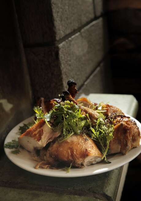 The roasted chicken served during dinner at Zuni Cafe in San Francisco. Photo: Carlos Avila Gonzalez, The Chronicle