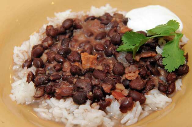 Soupy smokey rice and beans prepared by Caroline Barrett on Tuesday March 3, 2015 in Delmar, N.Y. (Michael P. Farrell/Times Union) Photo: Michael P. Farrell / 00030797A