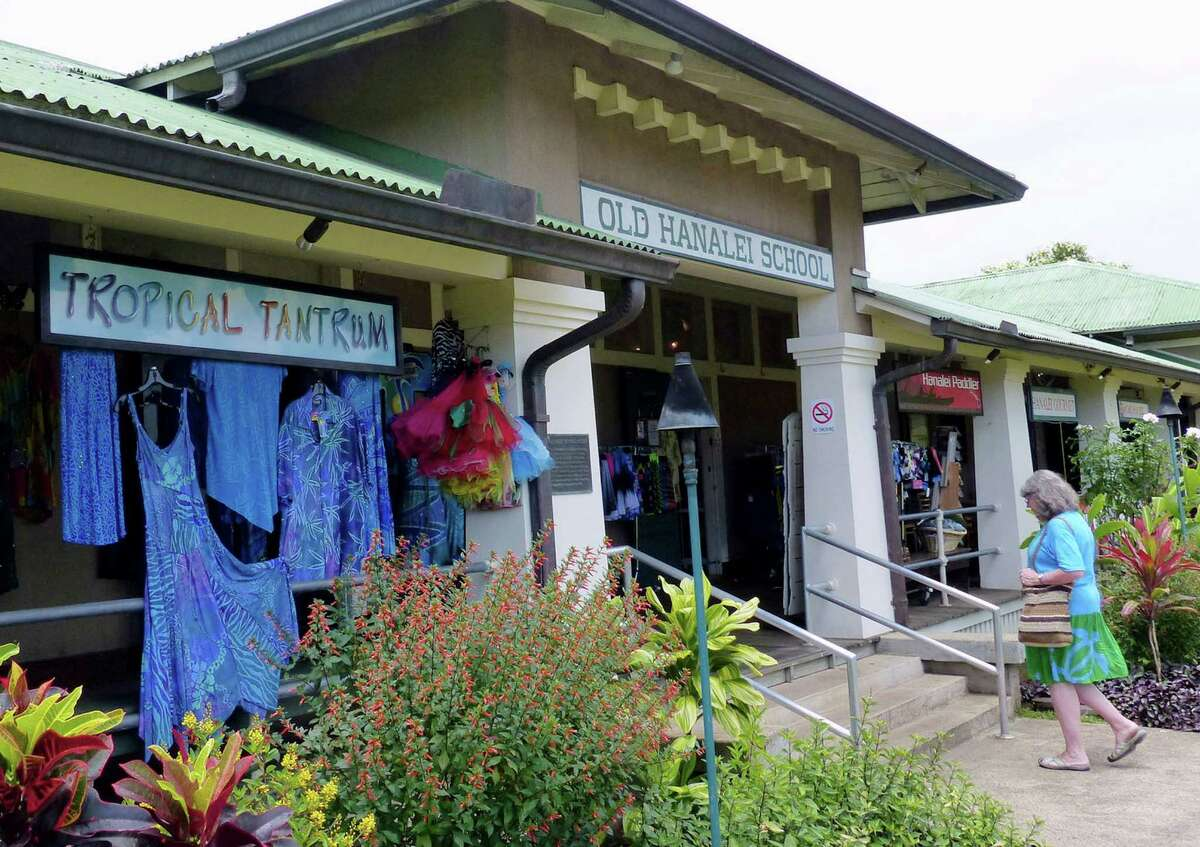 The Old Hanalei School is a shopping mall with historical flavor in Hanalei town.