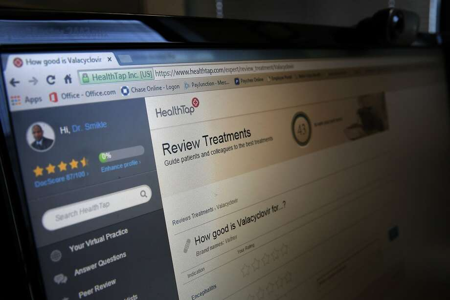 HealthTap, a Palo Alto telemedicine and medical information startup,  said Tuesday it will team up with New Jersey's Quest Diagnostics to  integrate diagnostic testing into its digital health platform. Photo: Michael Macor, The Chronicle