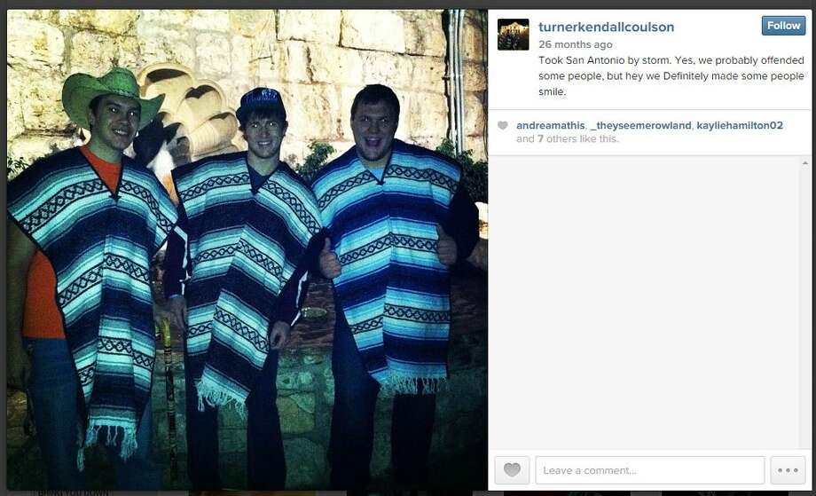 A Texas State University student who is a former member of a national fraternity that shut down its University of Oklahoma chapter amid a racism scandal posted a series of racially charged tweets blasting the nationwide outrage over the incident.  A series of tweets and photos posted by Turner Coulson — whose deleted Twitter, Instagram and Linkedin accounts show his affiliation with the Sigma Alpha Epsilon chapter at Texas State — began making the rounds on social media Wednesday afternoon. Photo: Screenshot Via Instagram