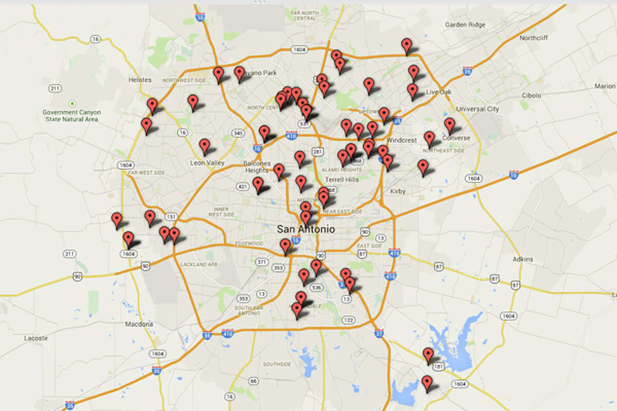 DEA: Addresses of some locations where law enforcement agencies reported they found chemicals or other items that indicated the presence of either clandestine drug laboratories or dumpsites in the San Antonio area from from 2004-2012.Click through to get detailed looks at each part of the city.