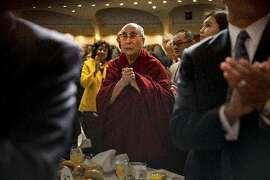 Dalai Lama at prayer