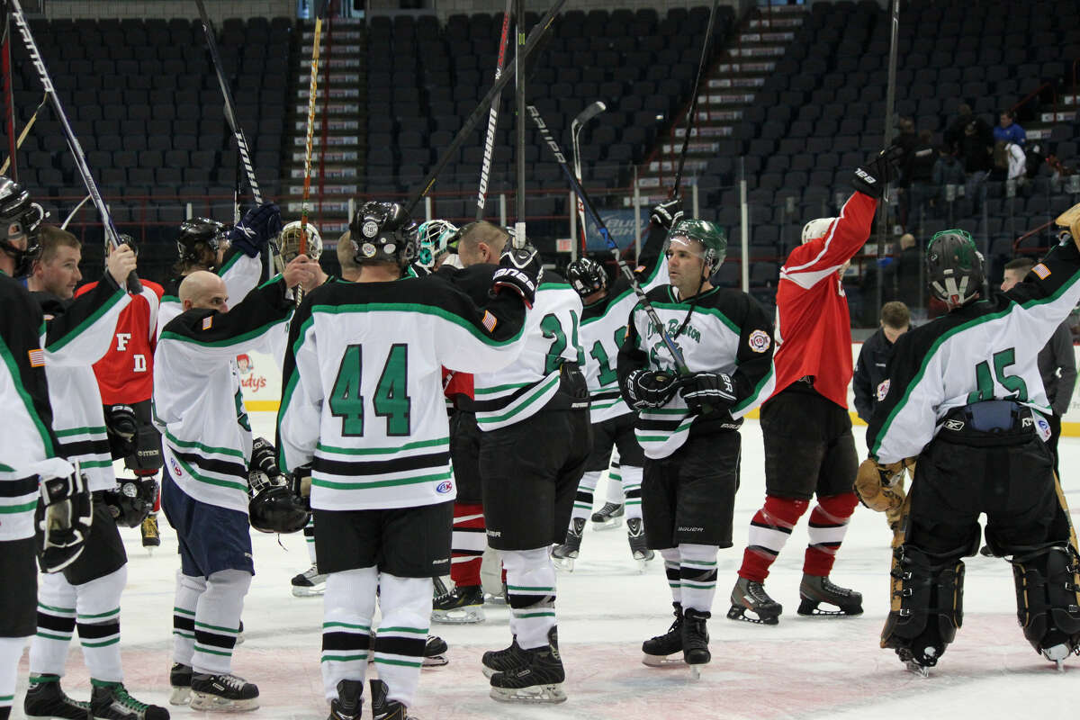 MacBoston Hockey, a group of local Firefighters who organize benefit games throughout the region. (Courtesy Albany Devils)