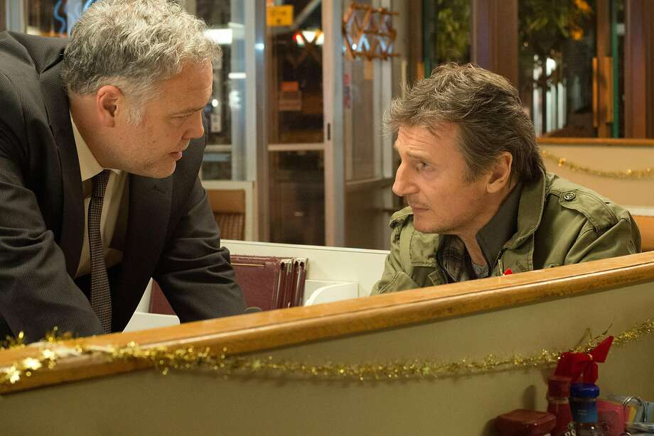 """Vincent D'Onofrio (left) is a detective and Liam Neeson a dad protecting his son in """"Run All Night."""" Photo: Myles Aronowitz, Associated Press"""