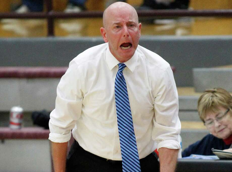 Houston Clear Lake head coach Tommy Penders shows his emotions after a call during the first half of a playoff game against Fort Bend Travis on March 3, 2015, in Pearland. Photo: J. Patric Schneider /For The Houston Chronicle / © 2015 Houston Chronicle