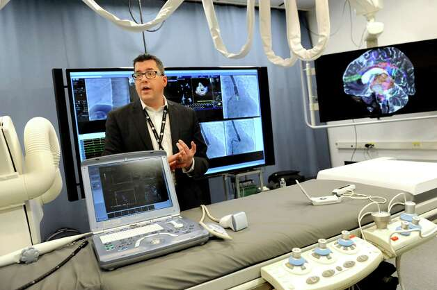 Principal scientist Jim Miller talks about their interventional inventions on Wednesday, March 11, 2015, at GE Global Research on Niskayuna, N.Y. (Cindy Schultz / Times Union) Photo: Cindy Schultz / 00030972A