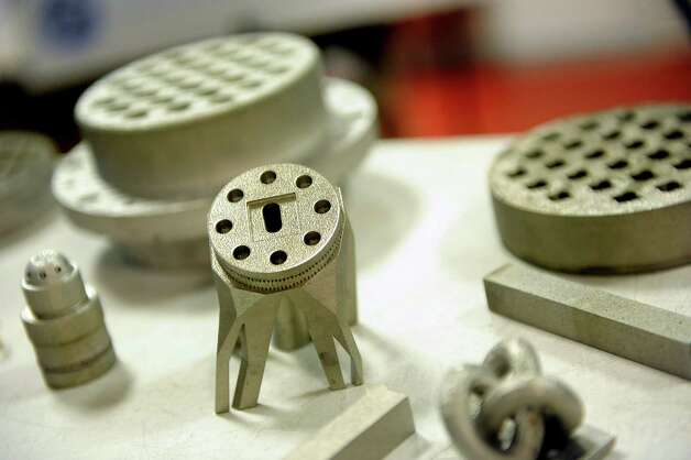 Parts made on a direct metal laser melting machine on Wednesday, March 11, 2015, at GE Global Research on Niskayuna, N.Y. (Cindy Schultz / Times Union) Photo: Cindy Schultz / 00030972A