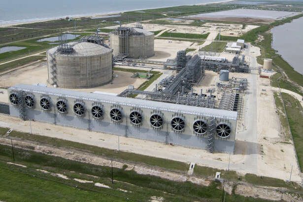 Freeport LNG is building a natural gas liquefaction and export plant near its existing import terminal in Brazoria County. (Freeport LNG photo)