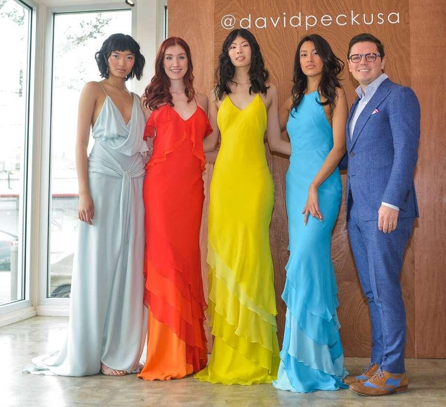 Designer David Peck with models Photo: Scott McCombs