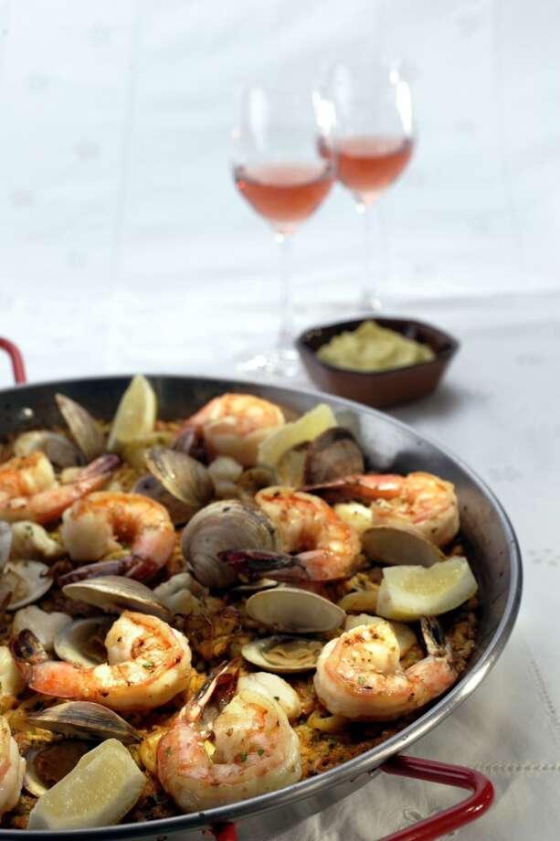Chiringuito seafood paella Photo: SPENCER WEINER, TPN