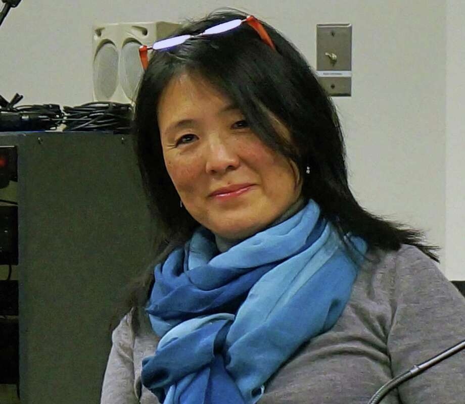 During a sometimes testy debate, Board of Education member Eileen Liu-McCormack was a vocal opponent of a change in the board's bylaws. Photo: Genevieve Reilly, File Photo / Fairfield Citizen