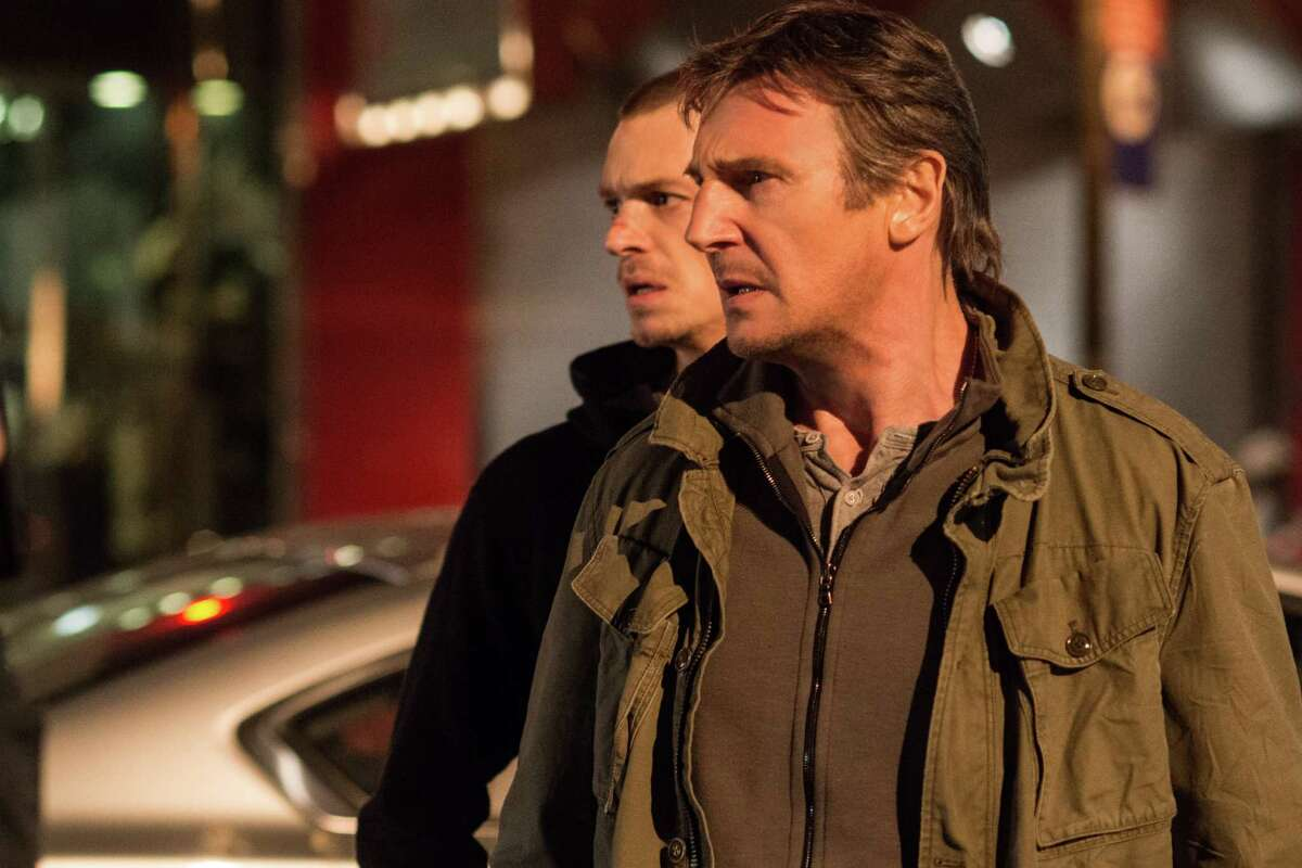 """Liam Neeson, front, and Joel Kinnaman star as father and son in action thriller """"Run All Night."""""""