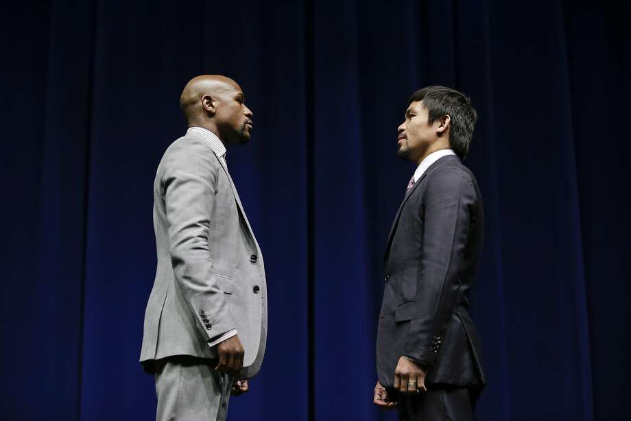 Floyd Mayweather Jr.'s career record: 47-0 Manny Pacquiao's career record: 57-5-2 Photo: Jae C. Hong, Associated Press