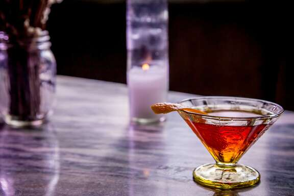 """The """"Black Rye"""" cocktail at Benjamin Cooper in San Francisco, Calif. is seen on March 10th, 2015."""