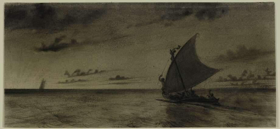 """Charles Meryon's """"View of the South Sea Islands Taken From the Ship Rhin."""" Photo: Cantor Center"""