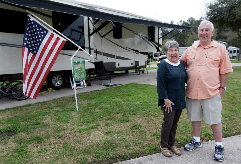 Jean Carroll and her husband, Peter Carroll, who live in a Spring RV park, are among many people who have gone to in-network hospitals but discovered the doctors working in them might not be in-network. They spent 14 months fighting a $271 bill. Photo: Melissa Phillip, Staff / © 2014  Houston Chronicle