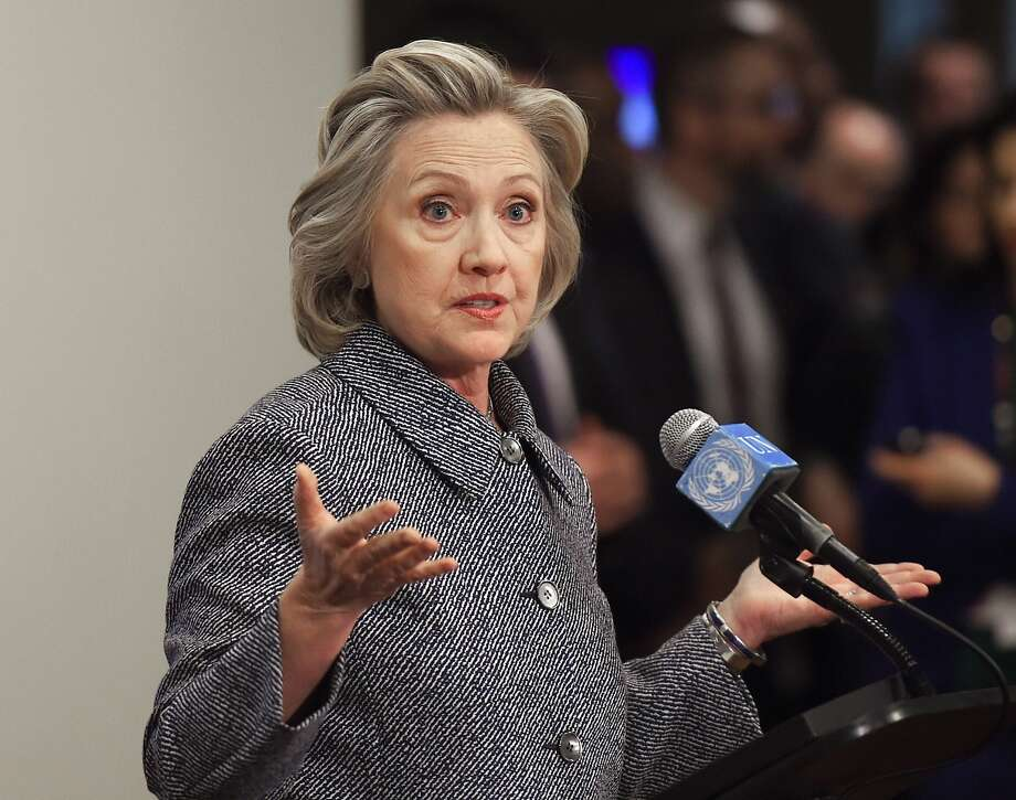 Hillary Rodham Clinton insisted the official e-mail on her home server was secure. Photo: Don Emmert, AFP / Getty Images
