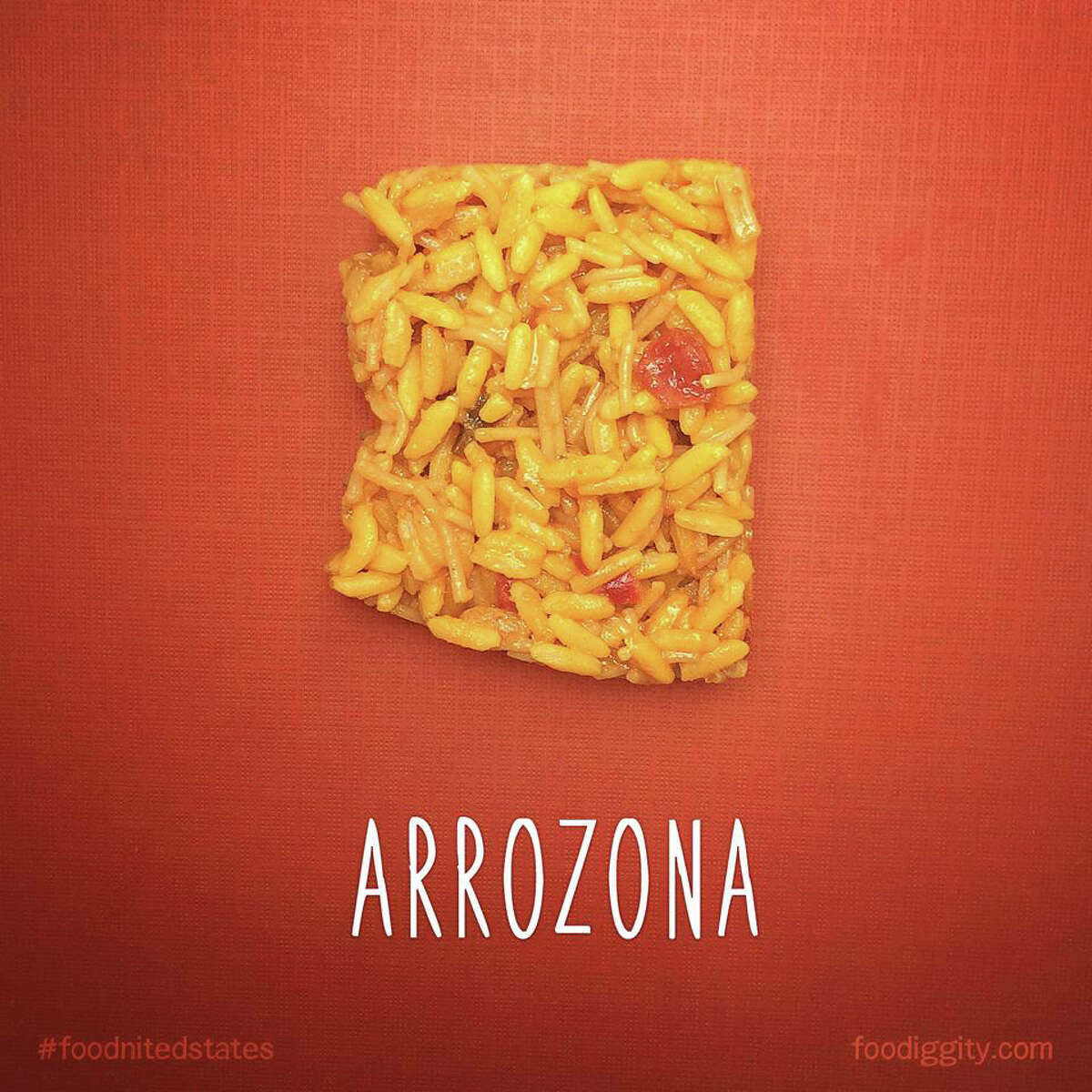 Chris Durso and his 8-year-old son brought puns into the kitchen with these foods made into the shape of U.S. states.