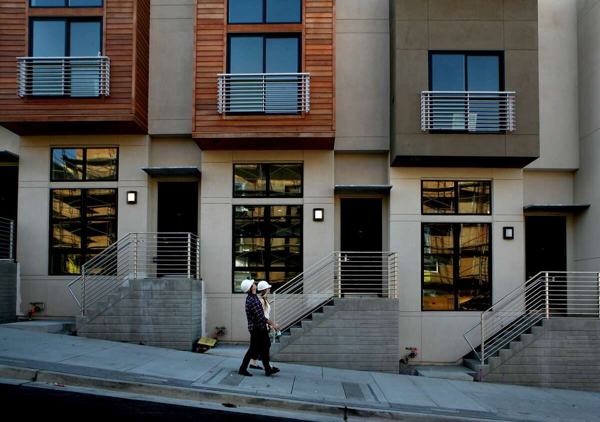 Ryan Lyles and his wife Angela are at the S.F. Shipyard to check out their new condo, Monday, March 9, 2015, in San Francisco, Calif.