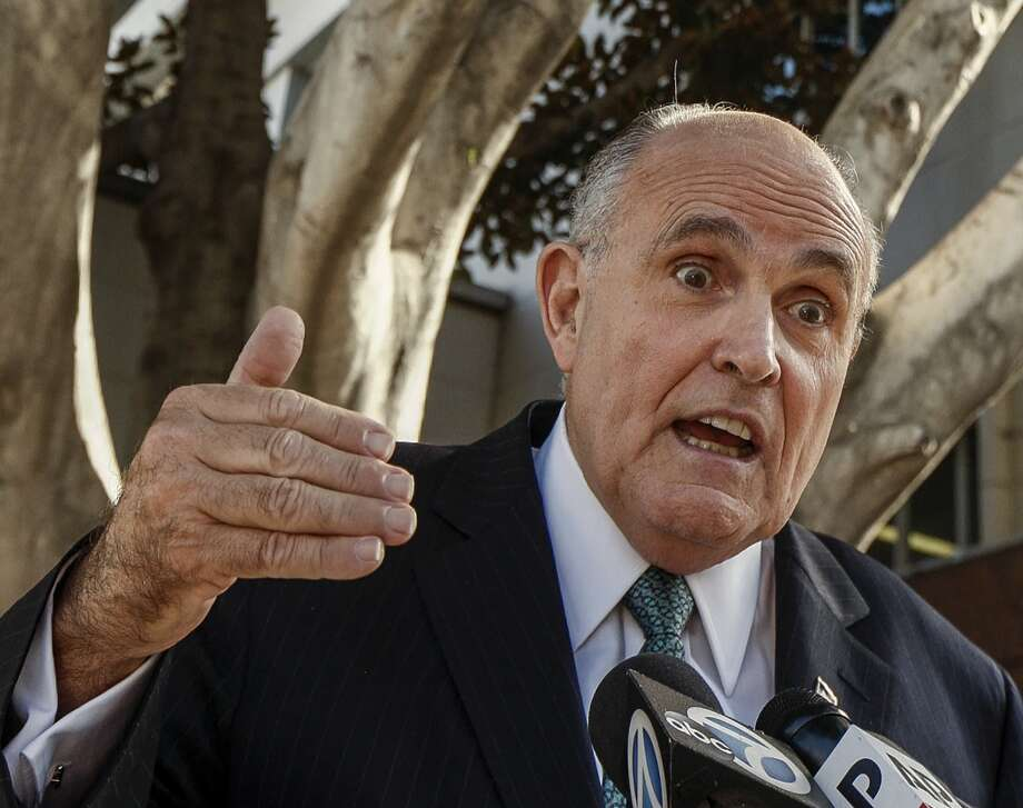 Former New York City mayor and Trump general counsel Rudy Giuliani left the country this week for Ukraine, seemingly flouting the ongoing impeachment process in Congress surrounding his and the president's dealings with power brokers in the country. Photo: Damian Dovarganes, Associated Press