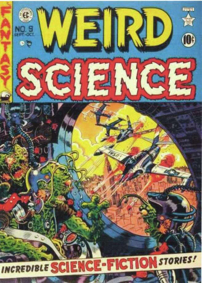 """Weird Science"" was one of the popular titles of EC Comics, one of several publishers pumping out complex stories and great art in the 1940s and 50s. Photo: Contributed Photo / Stamford Advocate Contributed photo"