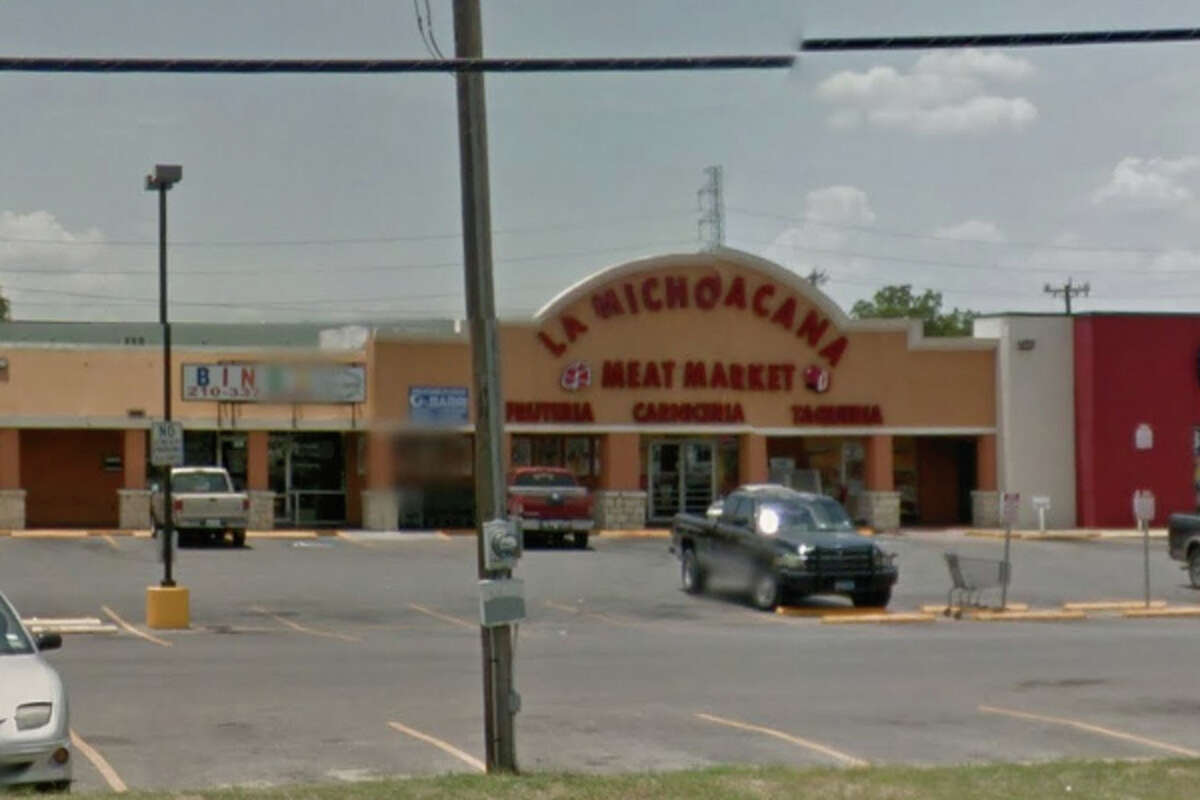 La Michoacana Meat Market San Antonio: 2107 Goliad Road, San Antonio, TX 78223  Date: 11/14/2017 Score: 74 Highlights: Food-contact surfaces must be clean to sight/touch (buildup on surfaces in meat department); no food handlers certifications available at time of inspection; food not held at correct temperature; knife, towel seen stored in handwashing sink; non-food contact surfaces should be smooth, easily cleanable; flies seen in establishment; inspector observed large number of flies around trash cans