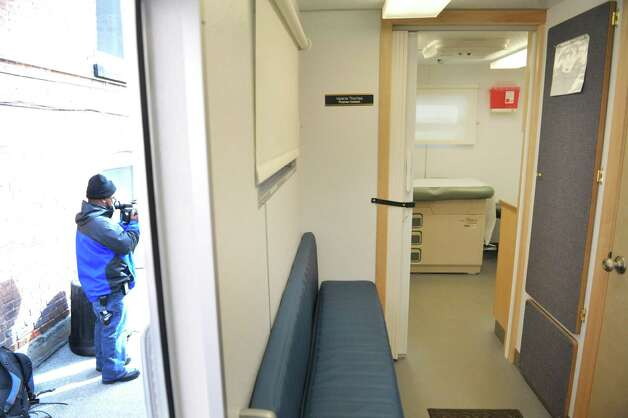 A view inside of the mobile health van during a press conference on Tuesday, March 10, 2015, in Troy, N.Y. The van, which is a self-contained medical office is part of a health program run by Commission on Economic Opportunity, Whitney Young Health and CDPHP. The van offers medical services to those in need and comes to the neighborhoods where people are dealing with various barriers to getting their health care needs met.  (Paul Buckowski / Times Union) Photo: PAUL BUCKOWSKI / 00030945A