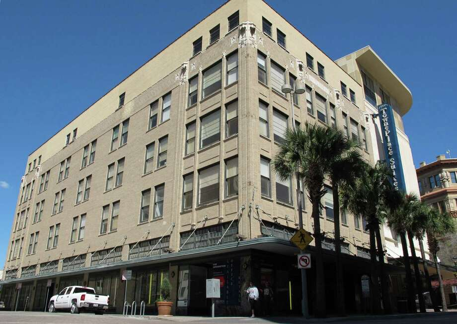 The Burns building at 401 E. Houston St., which is now for sale, had been occupied by Bromley Communications for more than 10 years. At the beginning of March, the national advertising company moved out of the historic building and into a tower at 175 E. Houston St. Photo: Benjamin Olivo /San Antonio Express-News