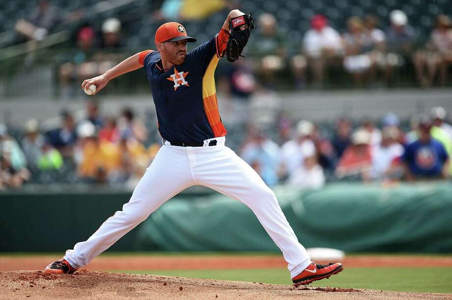 Astros starter Dan Straily is trying to become less reliant on his slider. Photo: Stacy Revere, Stringer / 2015 Getty Images