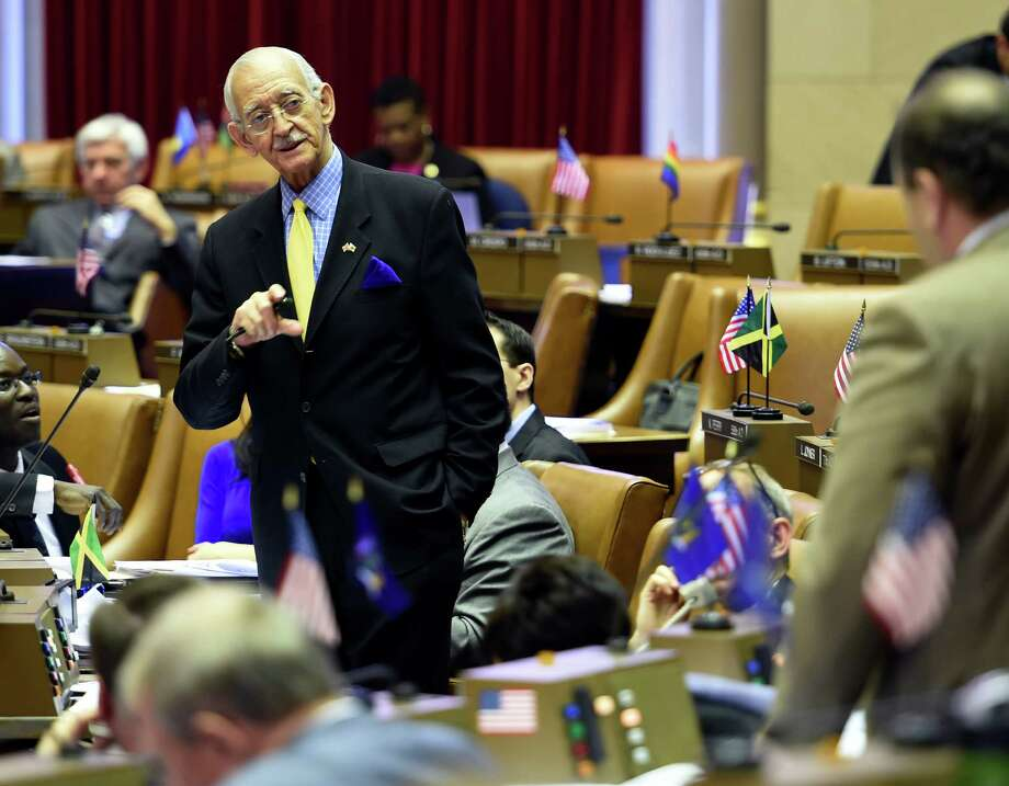 "Assembly Ways and Means Chairman Herman ""Denny"" Farrell debates points on the Executive Budget submission Thursday afternoon, March 12, 2015, at the Capitol in Albany, N.Y.  (Skip Dickstein/Times Union) Photo: SKIP DICKSTEIN"