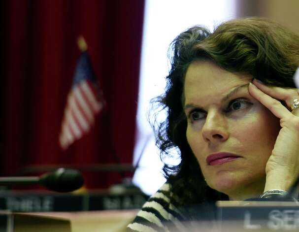 Assemblywoman Patricia Fahy listens intently to the debate on the Executive Budget submission Thursday afternoon, March 12, 2015, at Capitol in Albany, N.Y.    (Skip Dickstein/Times Union) Photo: SKIP DICKSTEIN