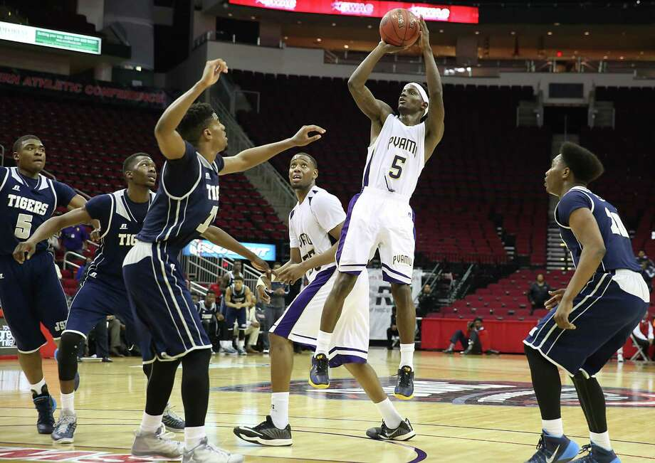 Guard Tre Hagood (5) did a little bit of everything in Prairie View A&M's win over Jackson State, getting 20 points, four rebounds, five assists and six steals. Photo: Thomas B. Shea, Freelance / © 2015 Thomas B. Shea