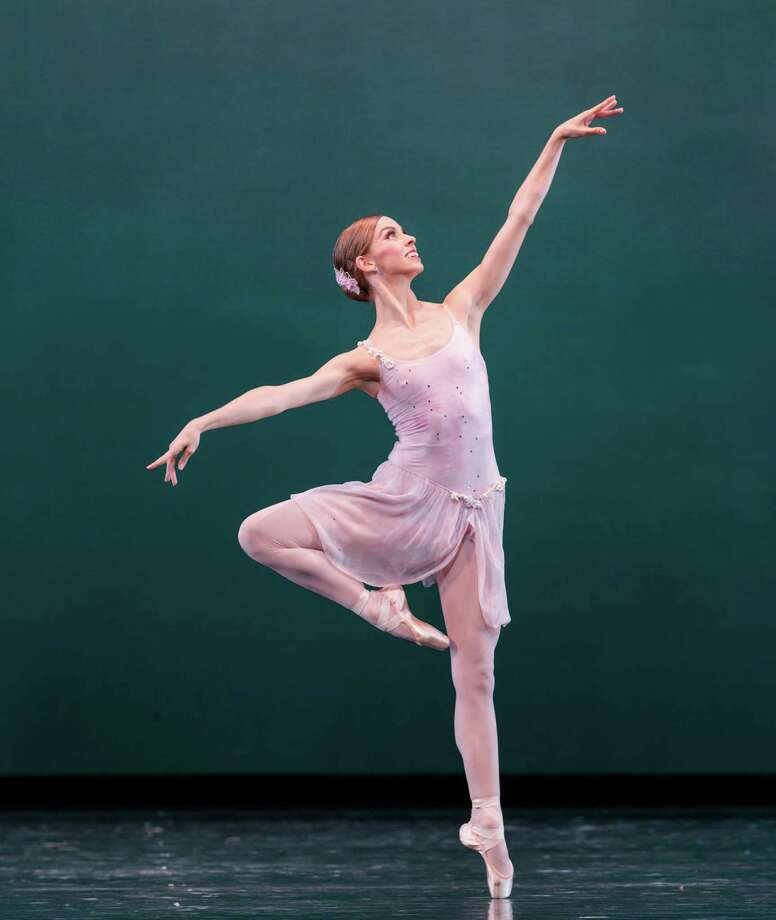 "Allison Miller looks like a ballerina George Balanchine would have loved in ""Ballo Della Regina,"" one of three works on Houston Ballet's Modern Masters program. Performances continue through March 22. Photo: Amitava Sarkar"