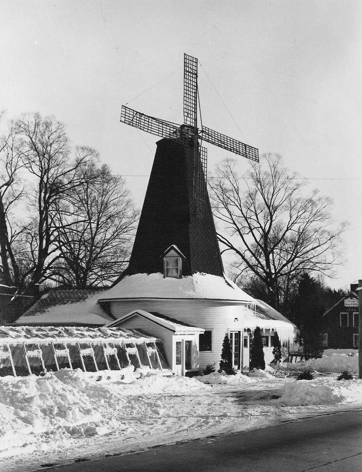 Wallace Ferris owned and operated the Windmill Florist in New Milford along Route 7 around the turn of the 20th century. The photo is from circa 1930. Currently this is the site of the Windmill Diner. Courtesy of theNew Milford Historical Society and Museum
