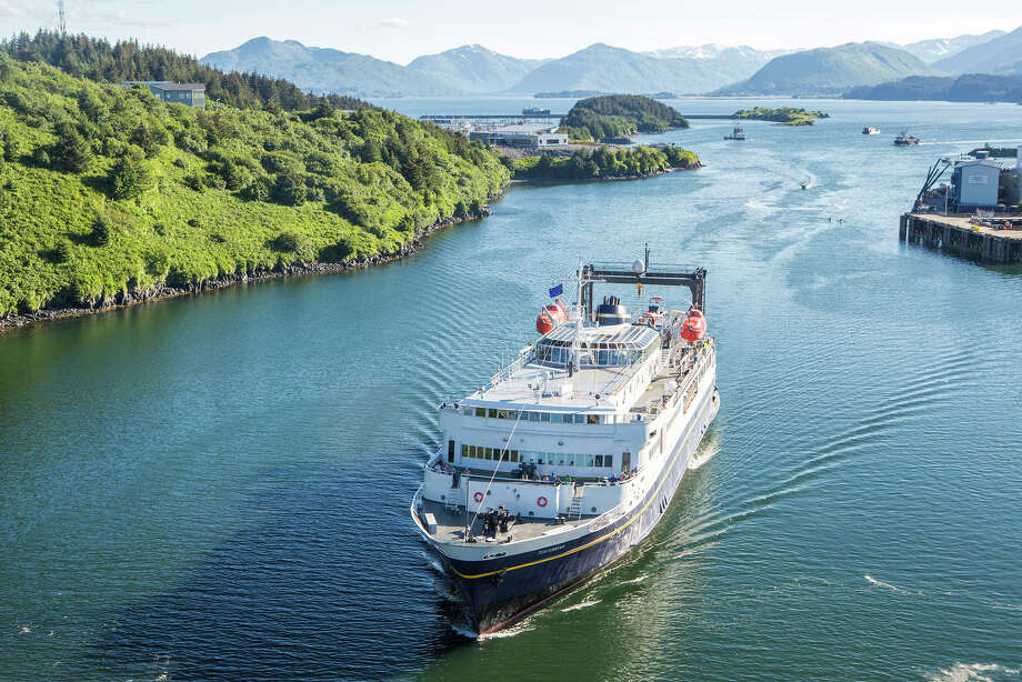 The M/V Tustumena ferry departs the port in Kodiak, Alaska Photo: Wayde Carroll Photography / Mike Coppock