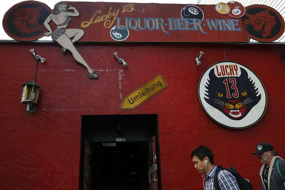 The outside of the bar Lucky 13 on March 11, 2015 in San Francisco, Calif.  Photo: Leah Millis, The Chronicle