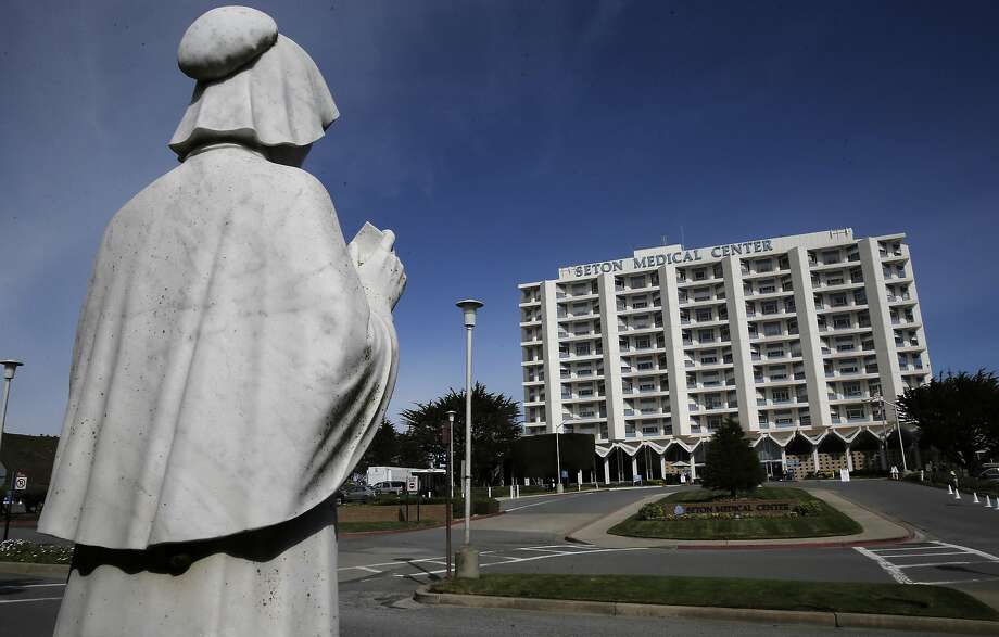 A statue of St. Elizabeth Ann Seton outside the main entrance into Daly City's Seton Medical Center, which was operated by financially troubled Daughters of Charity until Monday, Dec. 14, 2015, when Verity Health System, an arm of a New York hedge fund, took over. Photo: Michael Macor, The Chronicle