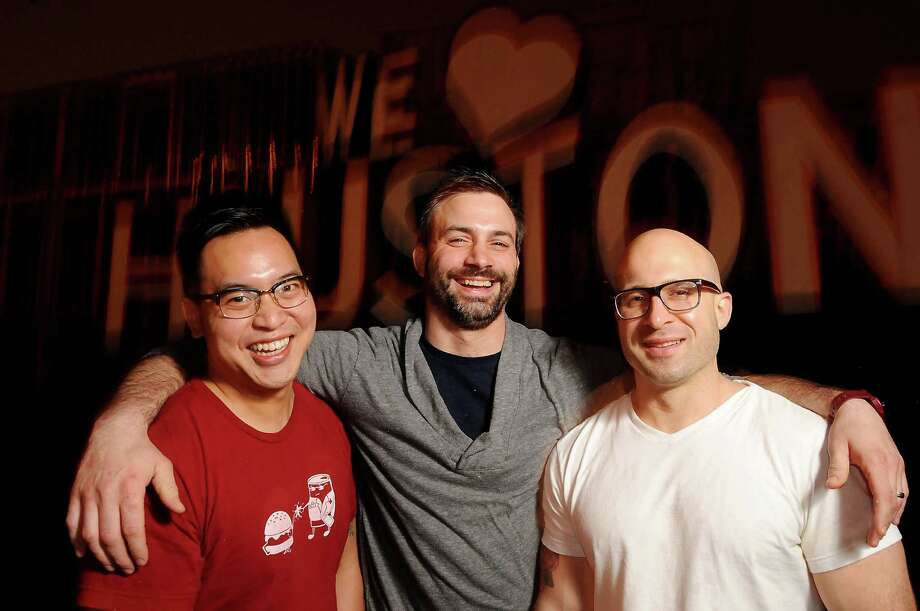Chefs Justin Yu, from left, Terrence Gallivan and Seth Siegel-Gardner are reuniting for a series of Just August pop-up dinners. Photo: Dave Rossman, Freelance / Freelalnce