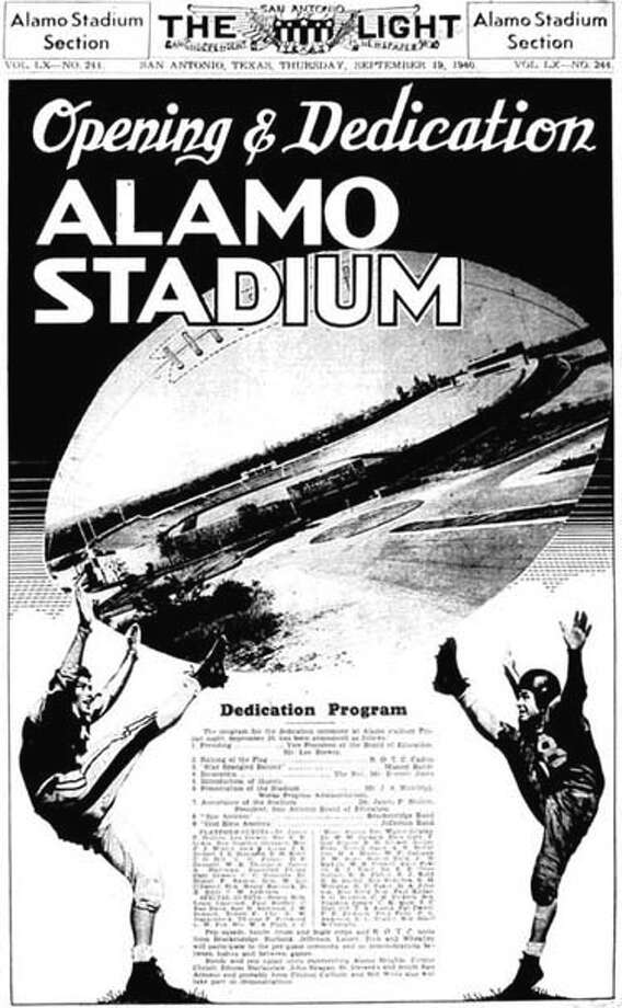 Alamo Stadium's opening was big news on Sept. 20, 1940. It was the site for two games that day. Photo: Courtesy Photo