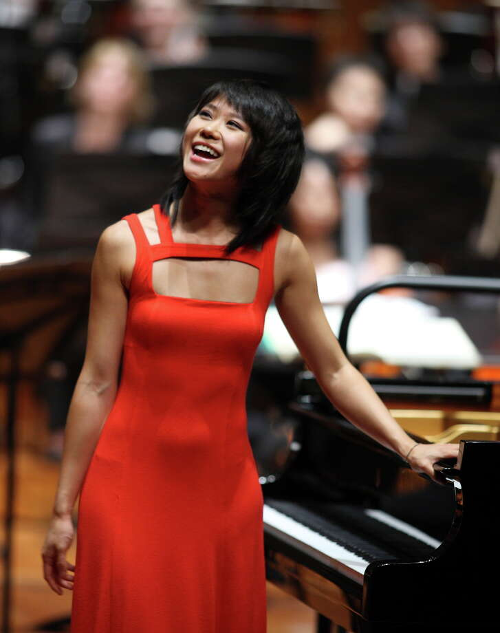 Yuja Wang was the soloist on both nights, delivering her customary blend of ferocious keyboard virtuosity and expressive richness. Photo: SF Symphony / San Francisco Symphony / ONLINE_YES