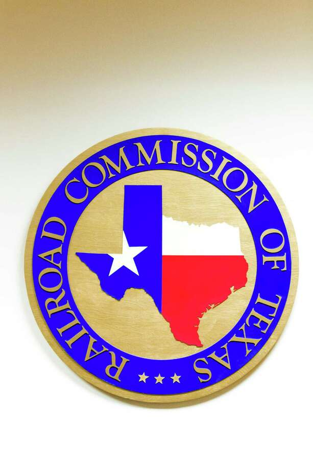 The Texas Railroad Commission's logo at its headquarters in Austin. Photo: Christina Burke, Freelance / Christina Burke