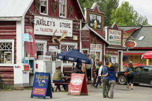 Nagley's Store is the headquarters for Stubbs, the town's feline mayor for the past 17 years.