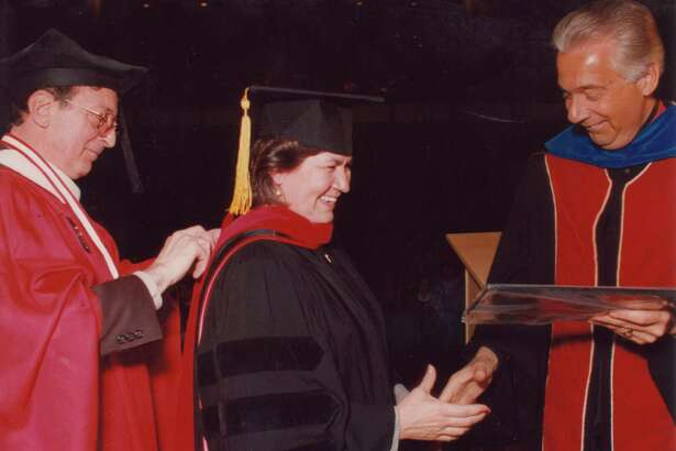 Sr. Yolanda Tarango, CCVI was awarded an honorary Doctor of Humane Letters. Tarango is a member of the UIW Board of Trustees and a co-founder of Visitation House. Visitation House is a ministry of the Sisters of Charity of the Incarnate Word.