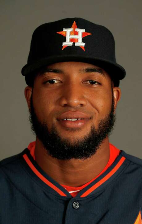 Houston Astros left fielder Domingo Santana photographed during Houston Astros spring training at the Osceola County facility, Thursday, Feb. 26, 2015, in Kissimmee. ( Karen Warren / Houston Chronicle  ) Photo: Karen Warren, Staff / © 2015 Houston Chronicle