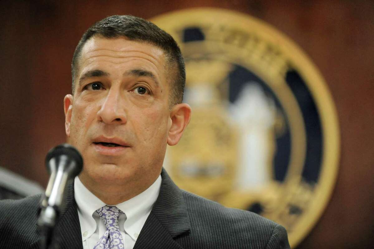 State Police Superintendent Joseph D'Amico discusses the death of Trooper Donald Fredenburg, 23, on Friday, March 13, 2015, at the State Police Academy in Albany, N.Y. Fredenburg died while on a morning run on the UAlbany campus. (Cindy Schultz / Times Union)