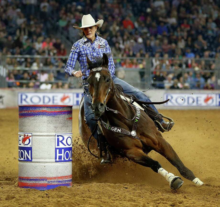 Ennis barrel racer Mary Walker, who travels 300 days a year, insures all three of her horses. Photo: Karen Warren, Staff / © 2015 Houston Chronicle